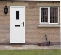 white composite doors in london