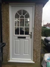 white composite doors in guildford
