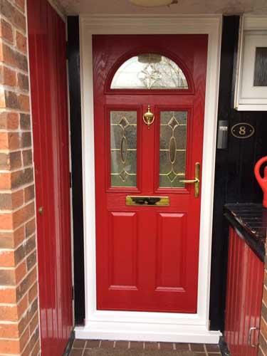 red composite doors design in london