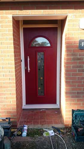 red composite doors design