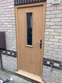 cream composite doors