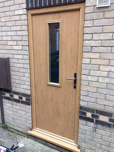 cream composite doors
