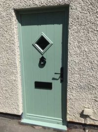green composite doors design