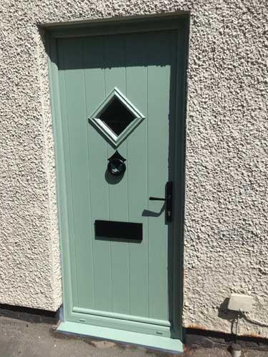 green composite doors design