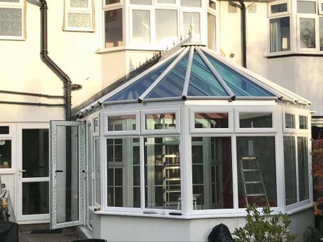 white conservatory design