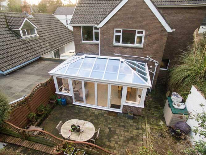 small white conservatory design