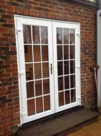 white patio door in sutton