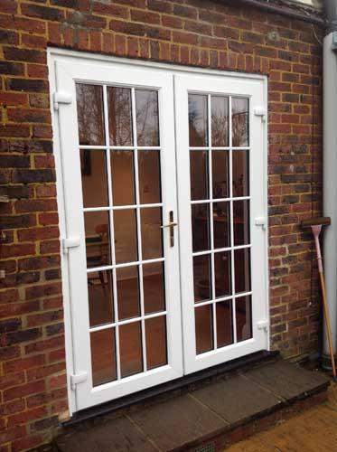 white patio door in sutton