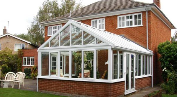 white conservatory in sutton