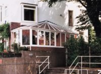 large white conservatory roof