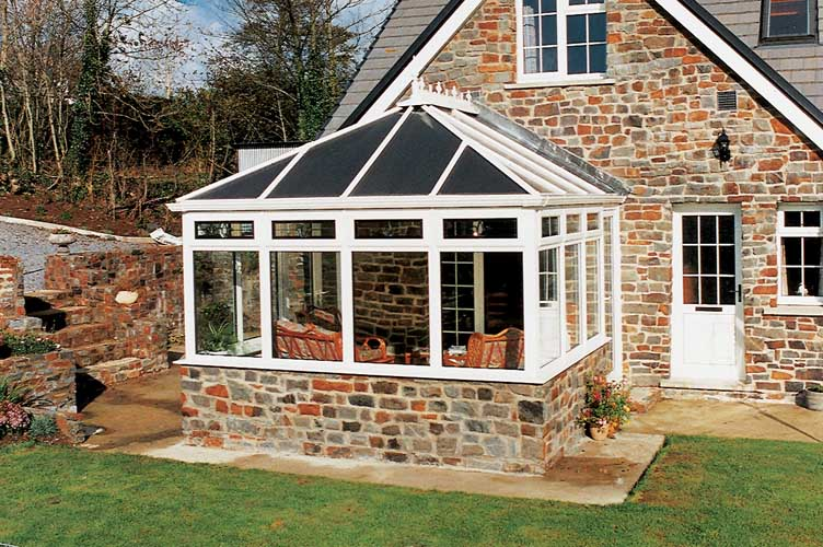 white conservatory design ideas