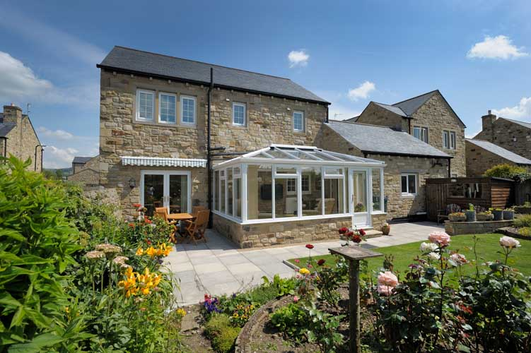 large white conservatory design